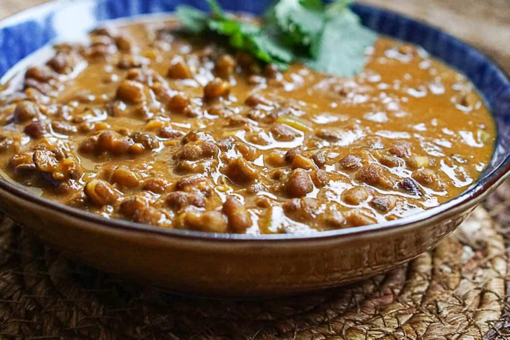 Instant Pot Dal made with black lentils