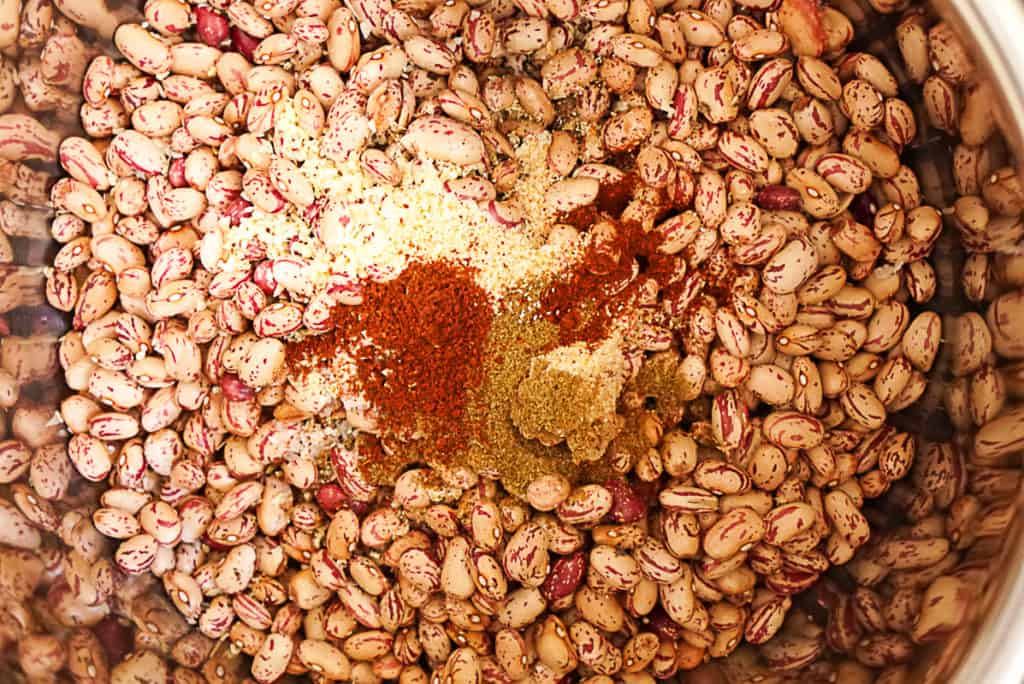 ingredients for refried beans