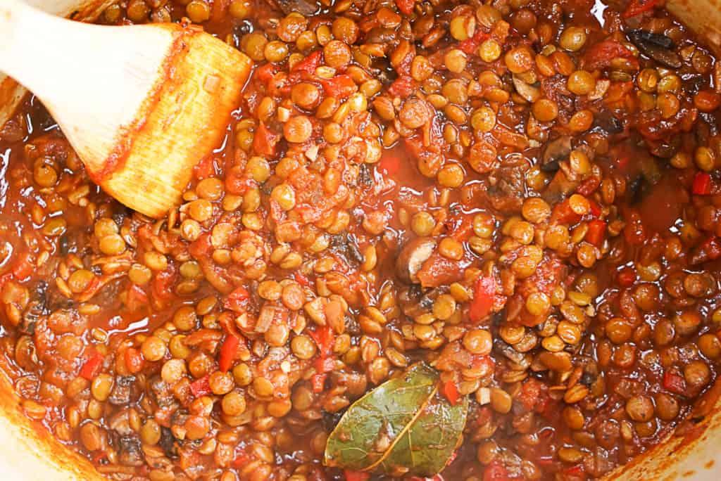lentil and mushroom recipe