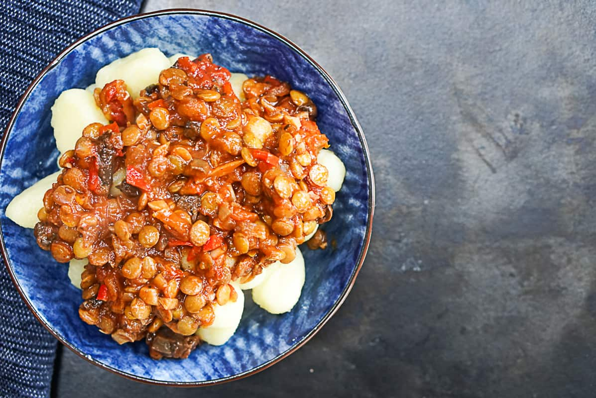 Vegan Mushroom And Lentil Ragu Pasta Sauce