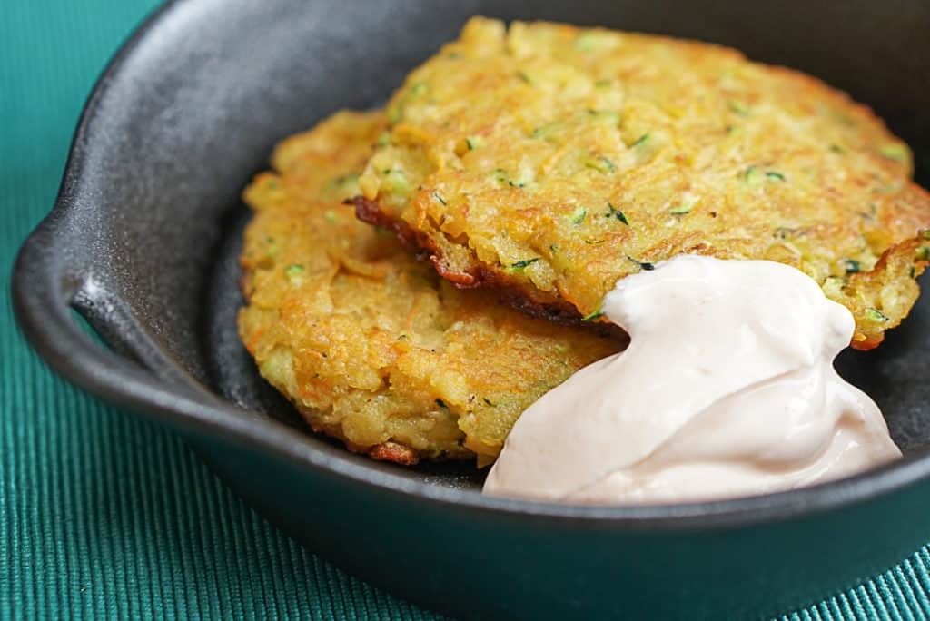 zucchini and carrot lentil fritters