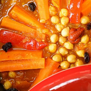 Moroccan Carrot And Chickpea Tagine