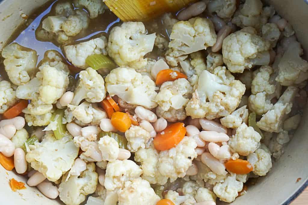 Cauliflower and white beans
