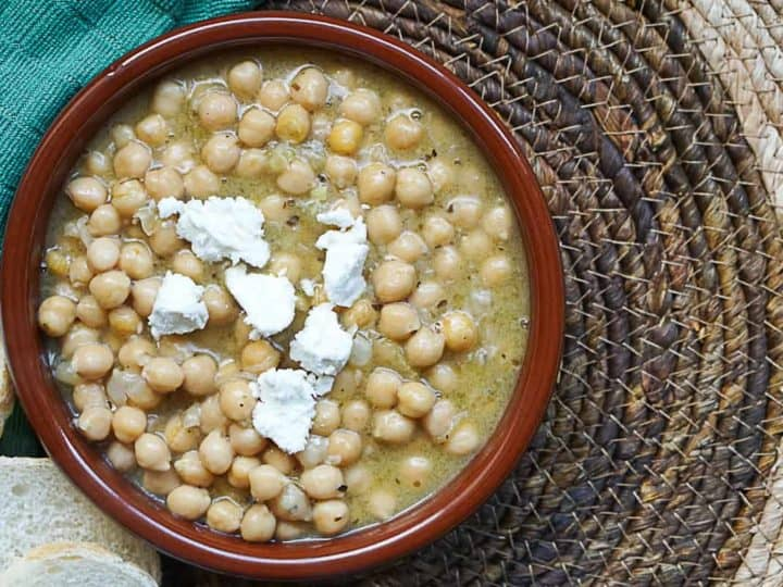 Greek Chickpea Soup - Traditional Revithia