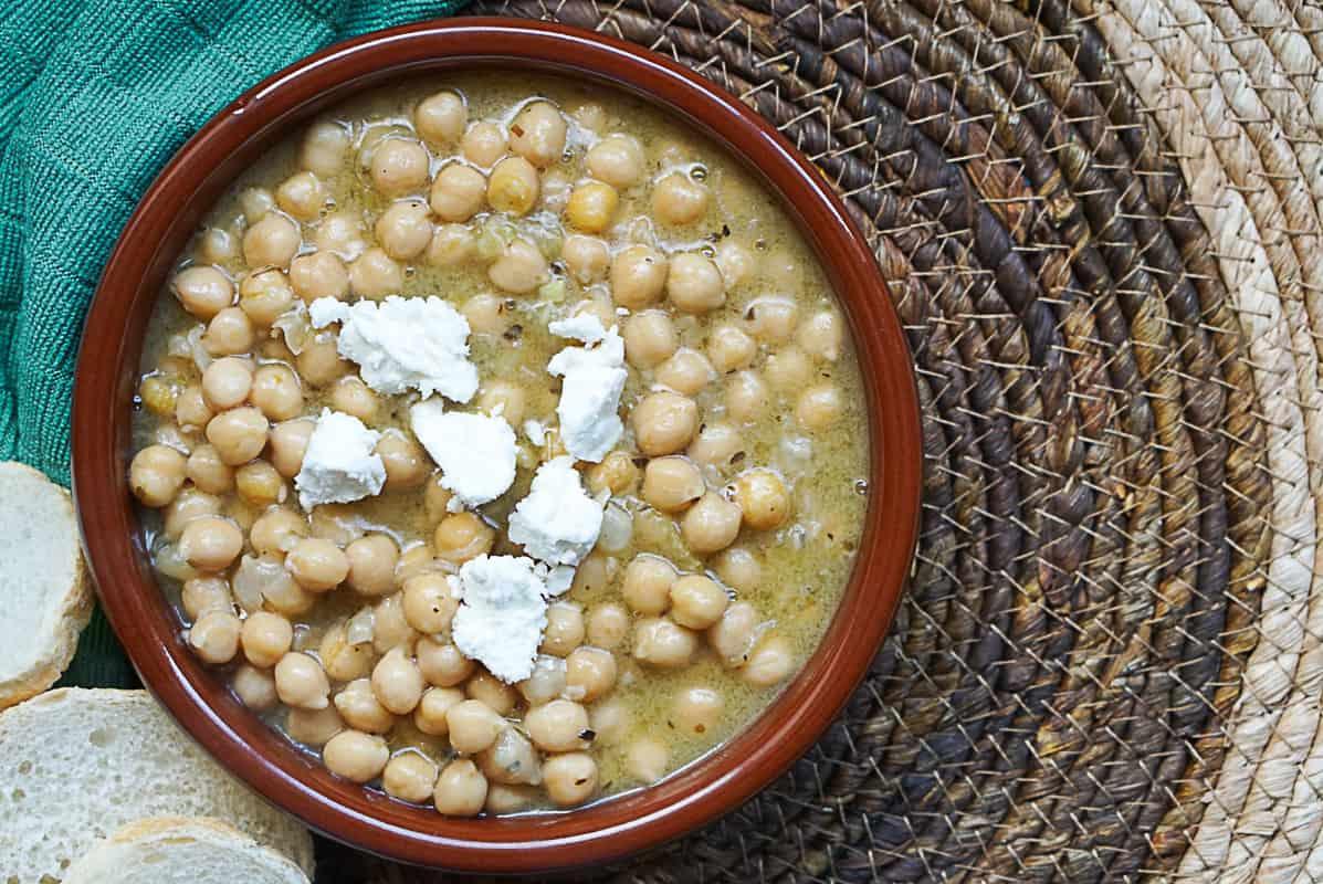 Lemony Greek Chickpea Soup - Traditional Revithia