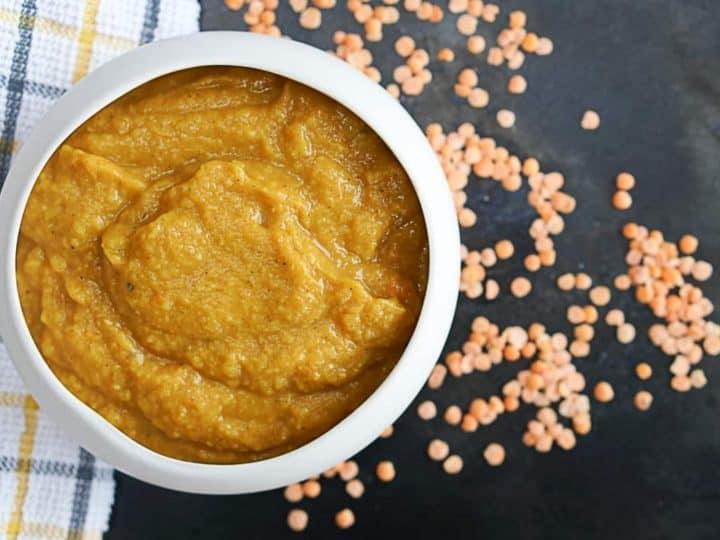 Instant Pot Carrot Lentil Ginger Soup