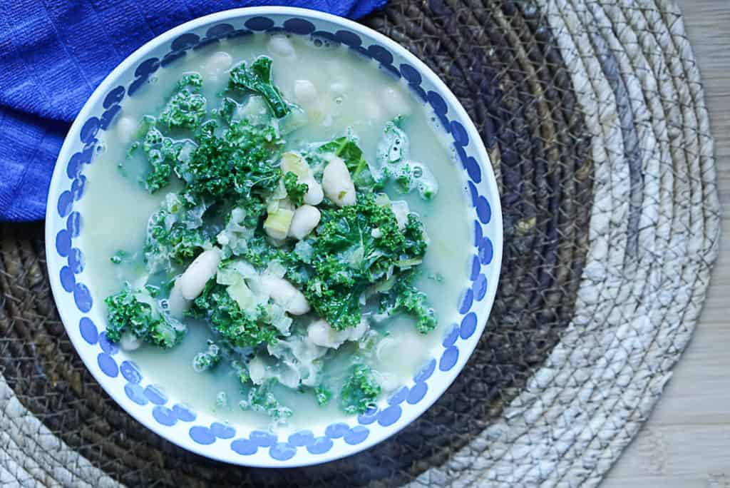 Creamy Dairy-Free Kale And White Bean Soup