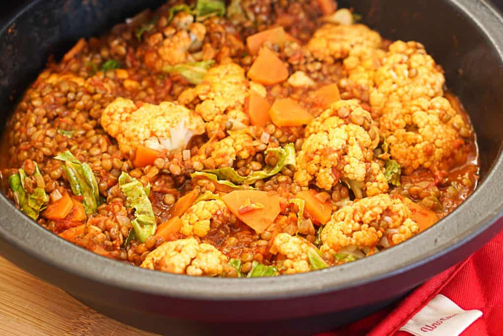 vegan lentil tagine
