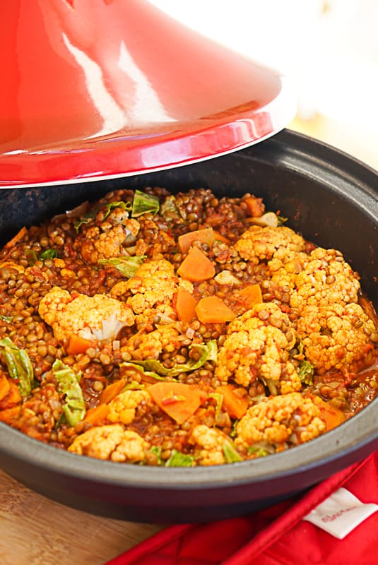 Moroccan Lentil Tagine With Cauliflower And Carrots