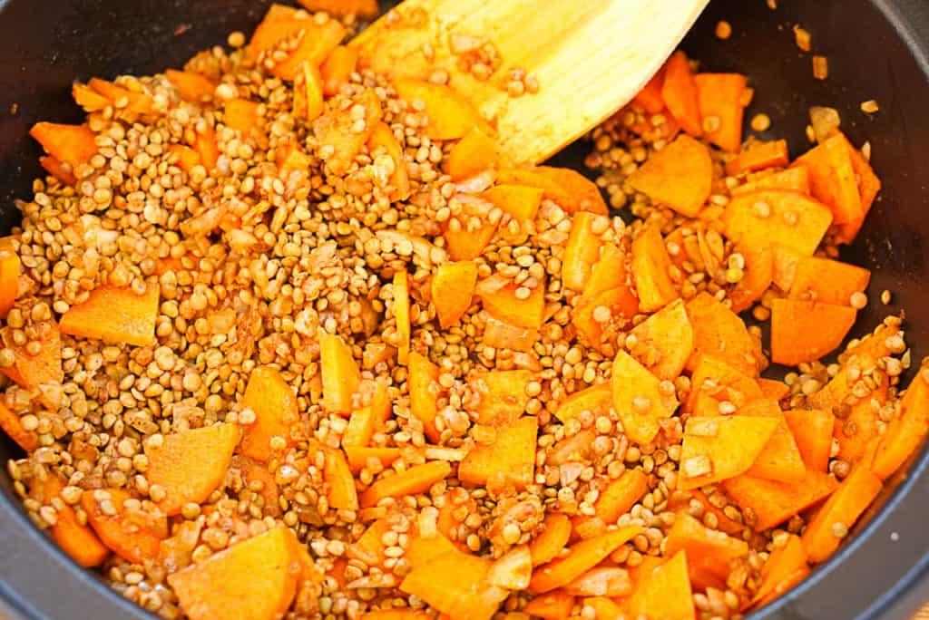 carrot and lentil tagine